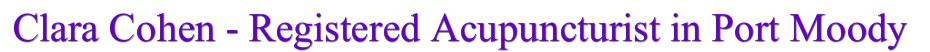 Acupuncture Port Moody | Coquitlam Acupuncture | Acupuncturist